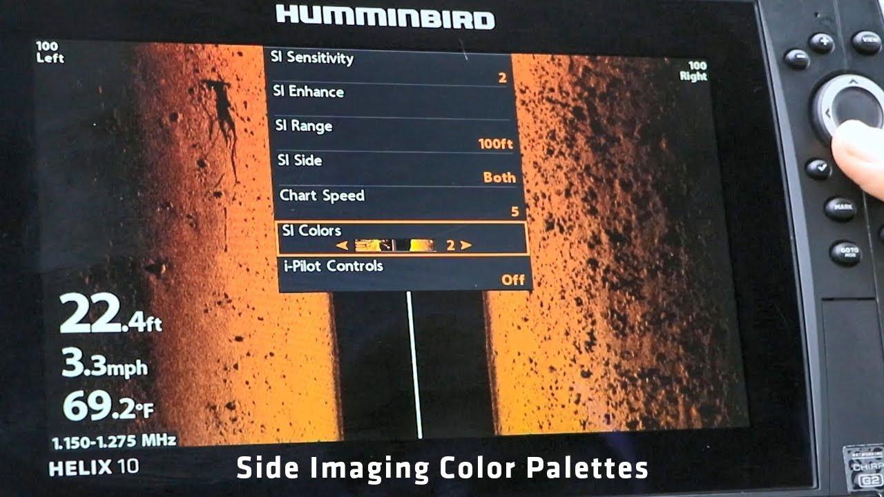 palete de culori pentru sonarul de pescuit